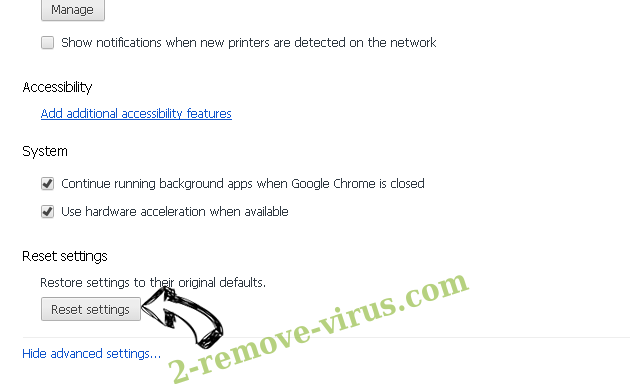 search.showmoreabout.com Chrome advanced menu