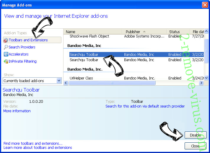 search.searchmmap.com IE toolbars and extensions