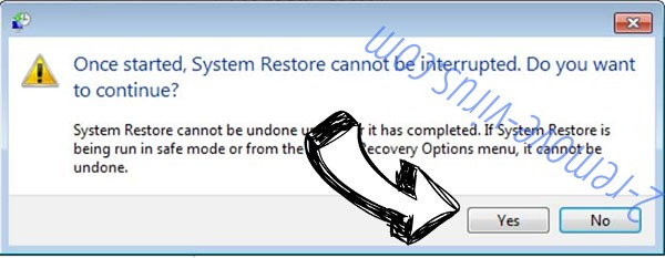 Yatron Ransomware removal - restore message