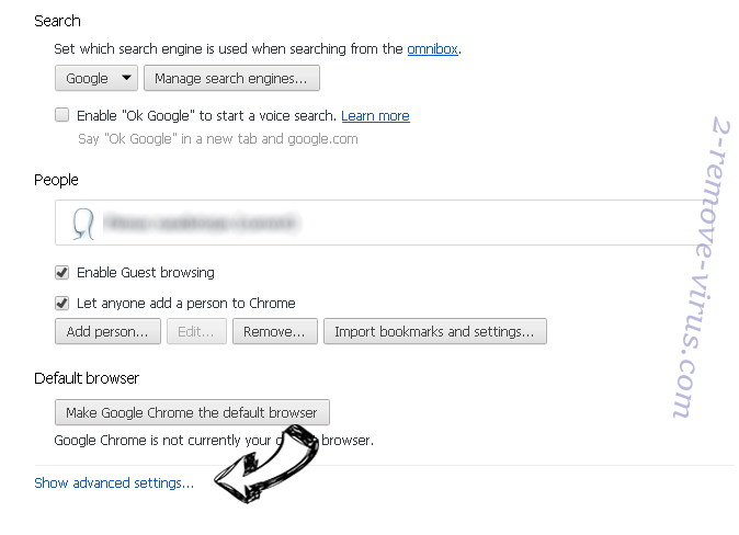 search.facty.com Chrome settings more