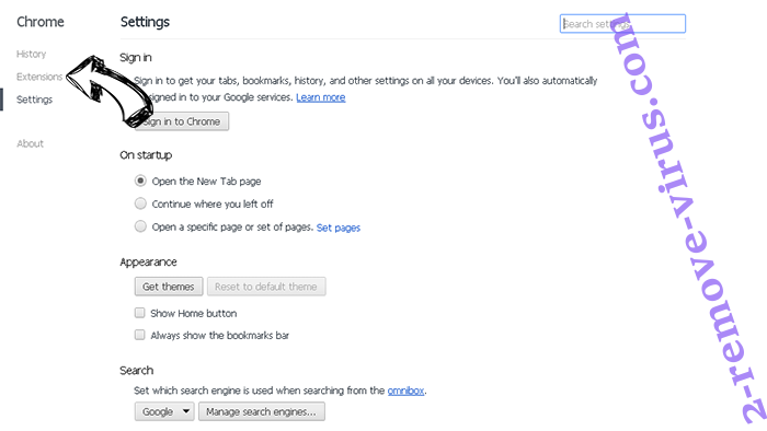 Book-page.org Chrome settings