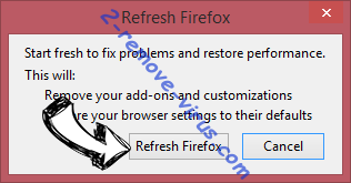 Note Homepage Toolbar Firefox reset confirm