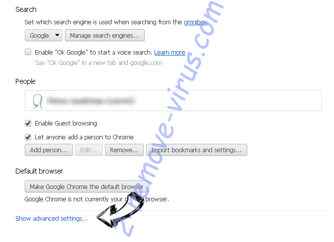 Yoodownload.com Chrome settings more