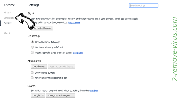 Newspages.net Chrome settings