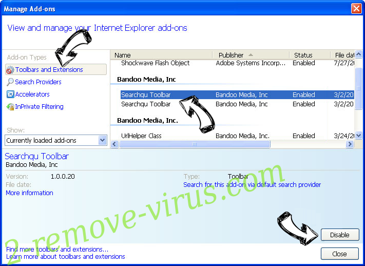 Easy To Watch Tv Virus IE toolbars and extensions
