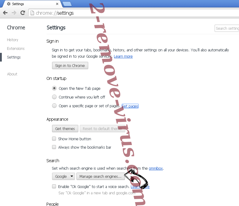 Search Tab New Chrome extensions disable