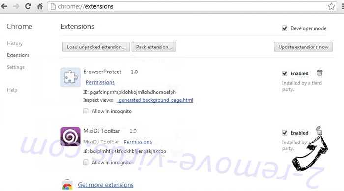 Yahoo Toolbar virus  Chrome extensions remove