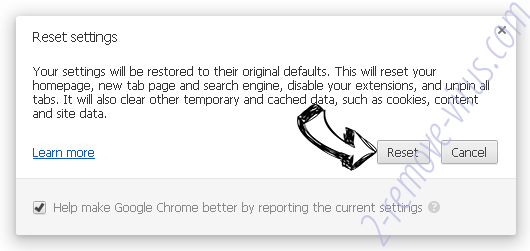 Searchdimension.com Chrome reset