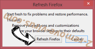 Searchdimension.com Firefox reset confirm