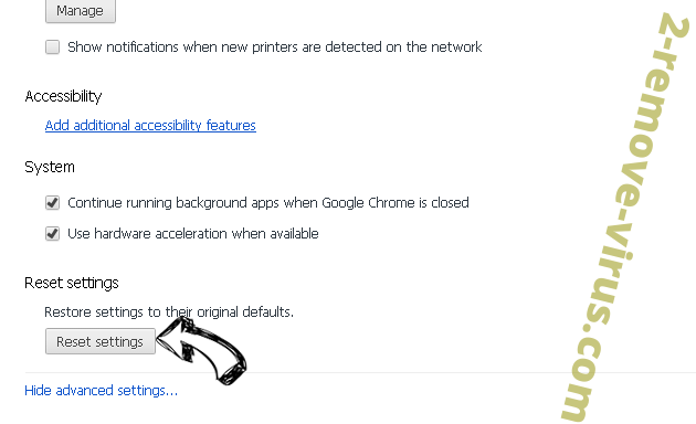 ShdUpdate Chrome advanced menu