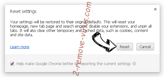 ShdUpdate Chrome reset
