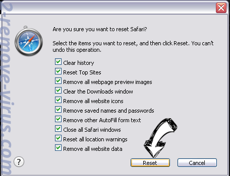 Softonicstart.com Safari reset