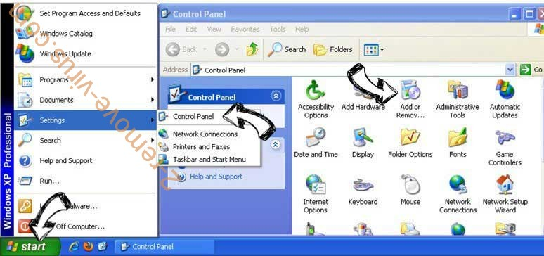 Remove Search.domaincentar.com from Windows XP