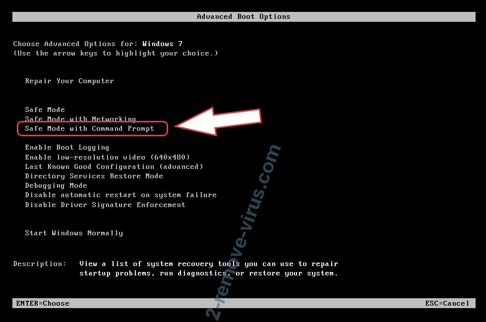 Remove WhiteRose ransomware - boot options
