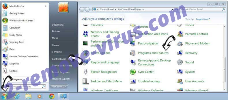 Uninstall Yahoo Toolbar virus  from Windows 7