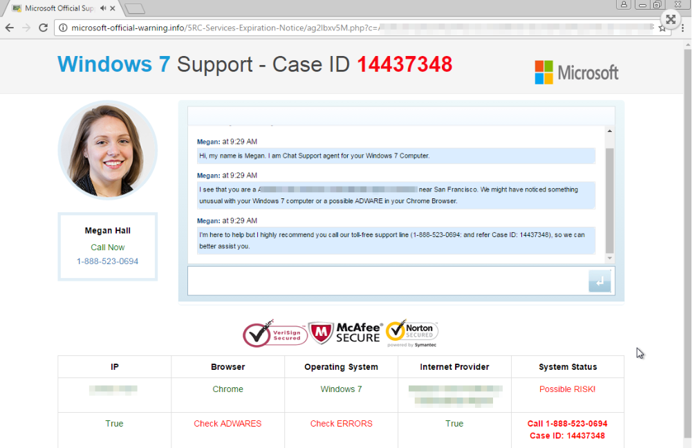 Fake Chrome extension pushes tech support scam