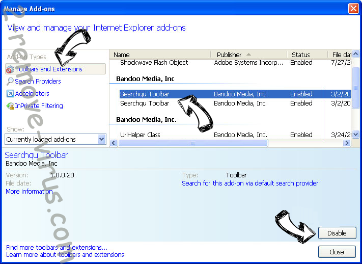 search.snapdo.com IE toolbars and extensions