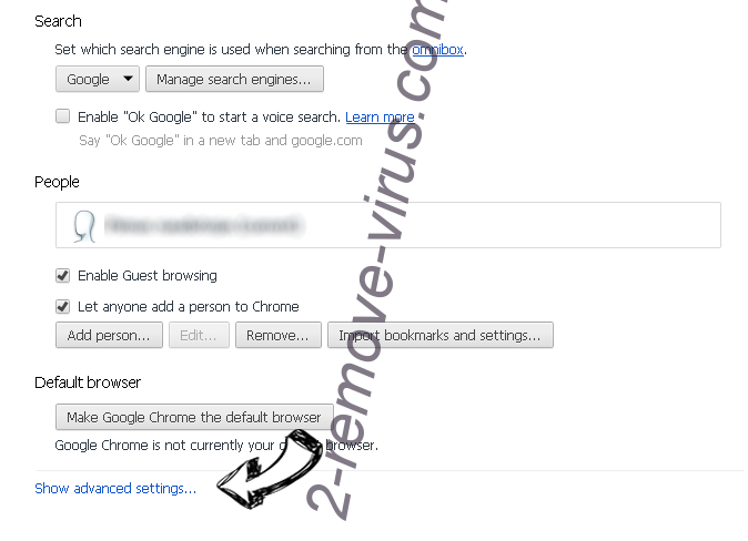 Searchgbv.com Chrome settings more