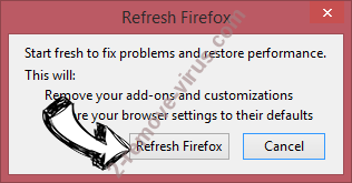 LuckyStarting Redirect Firefox reset confirm