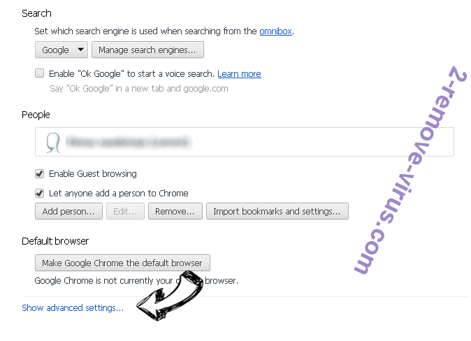 Search.schooldozer.com Chrome settings more