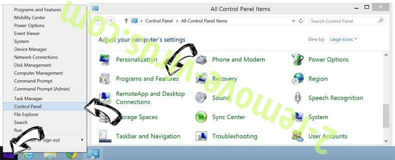 Delete WebmailWorld virus from Windows 8