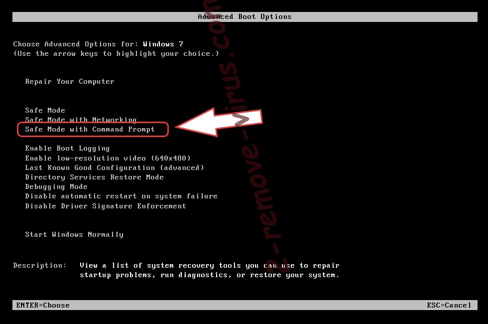 Remove Ladon Ransomware - boot options