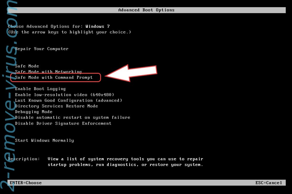 Remove AutoTRON Ransomware - boot options