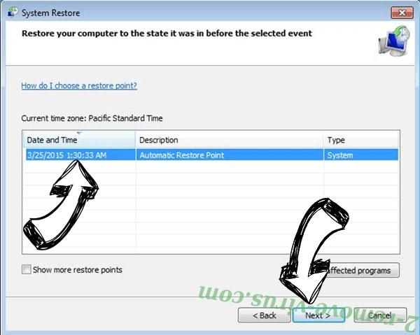 Ladon Ransomware - restore point