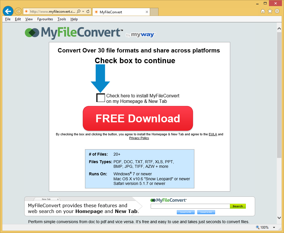 MyFileConvert Toolbar