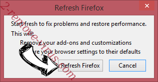 Ginger New Tab Firefox reset confirm