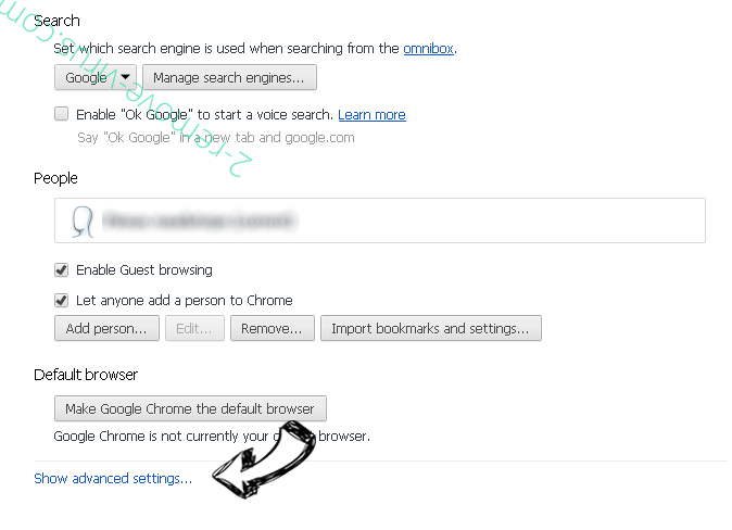 wwwsearchonline.com Chrome settings more