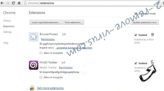 Bankworm Scam Chrome extensions remove
