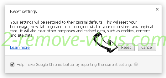 HappySearch Chrome reset