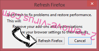 Missing Money Finder Firefox reset confirm