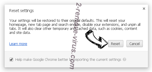 Search.searchvzc.com Chrome reset