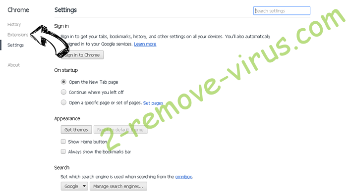 Search.searchvzc.com Chrome settings
