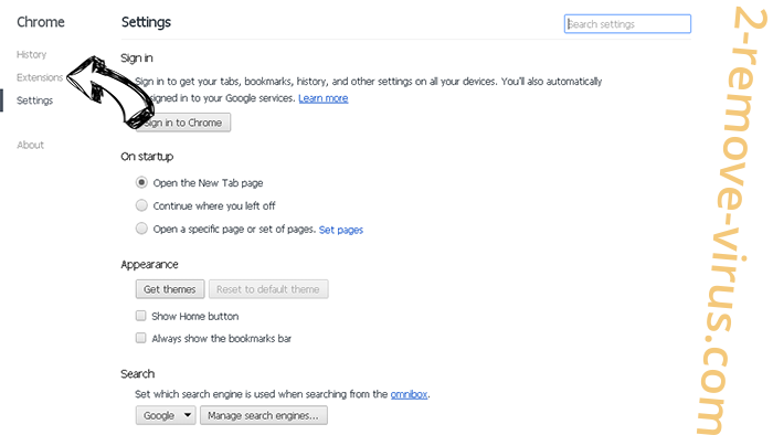 YeaDesktop 1.0.0.1 Chrome settings