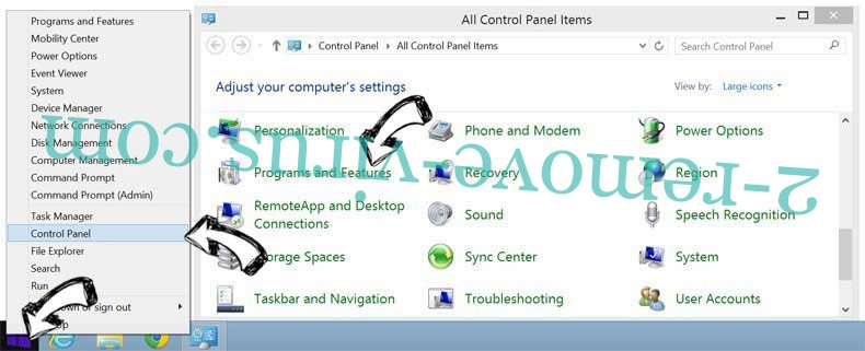 Delete Start.wow.com from Windows 8