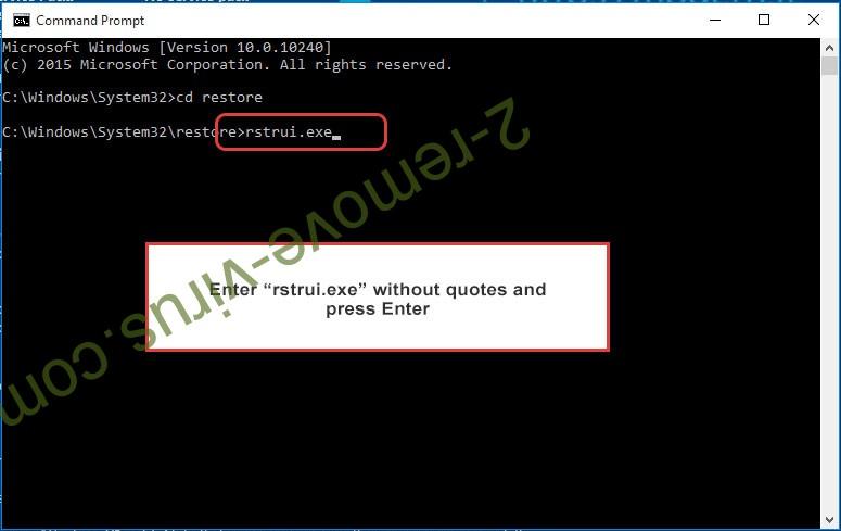 Delete GandCrab Virus - command prompt restore execute
