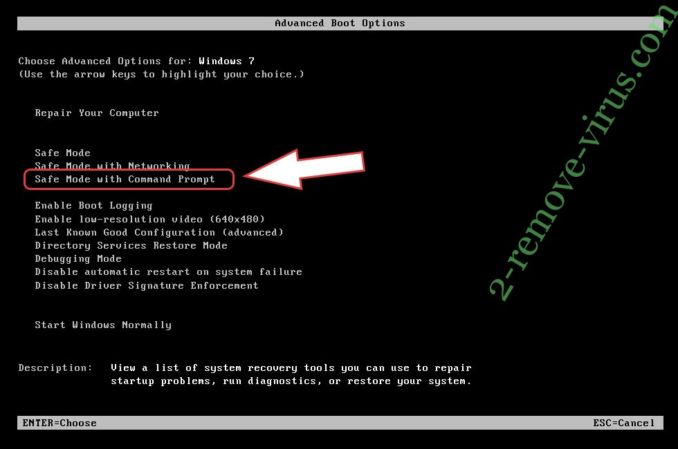 Remove Zeropadypt ransomware - boot options