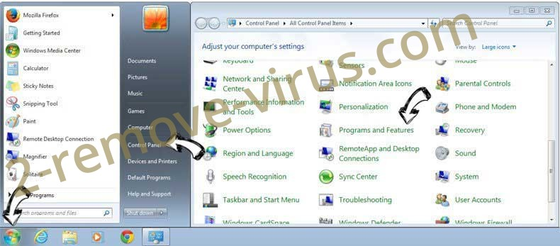 Uninstall 2infoblog.net from Windows 7