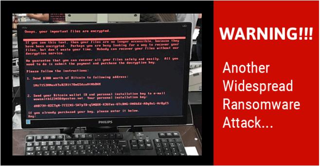 Another big malware attack - Petya or NotPetya