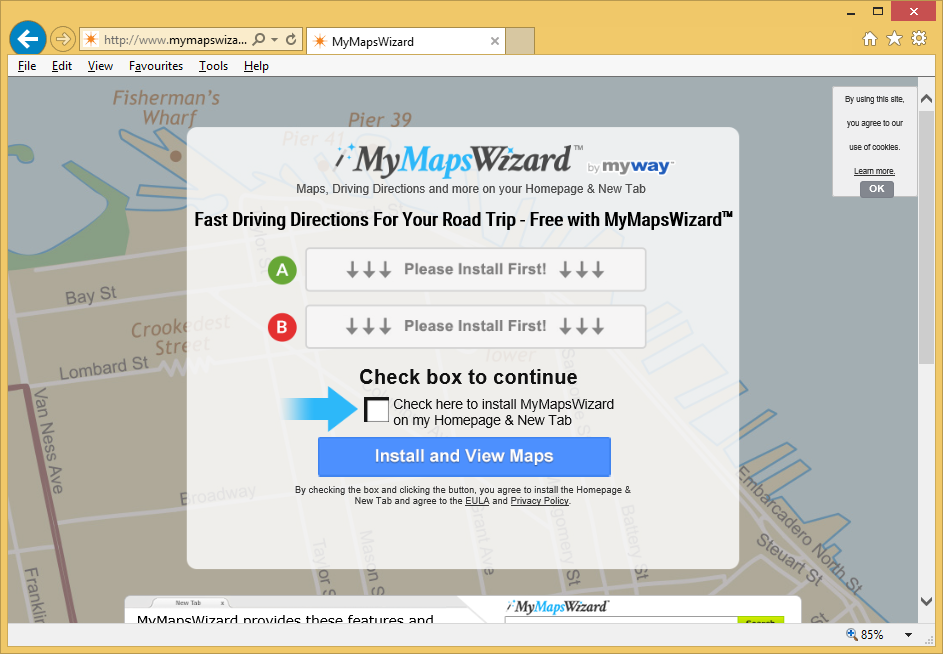 MyMapsWizard Toolbar