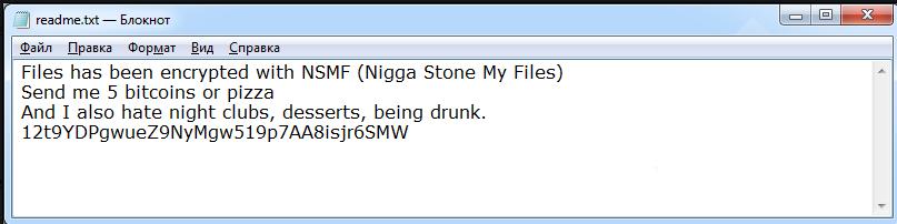 NSMF Ransomware