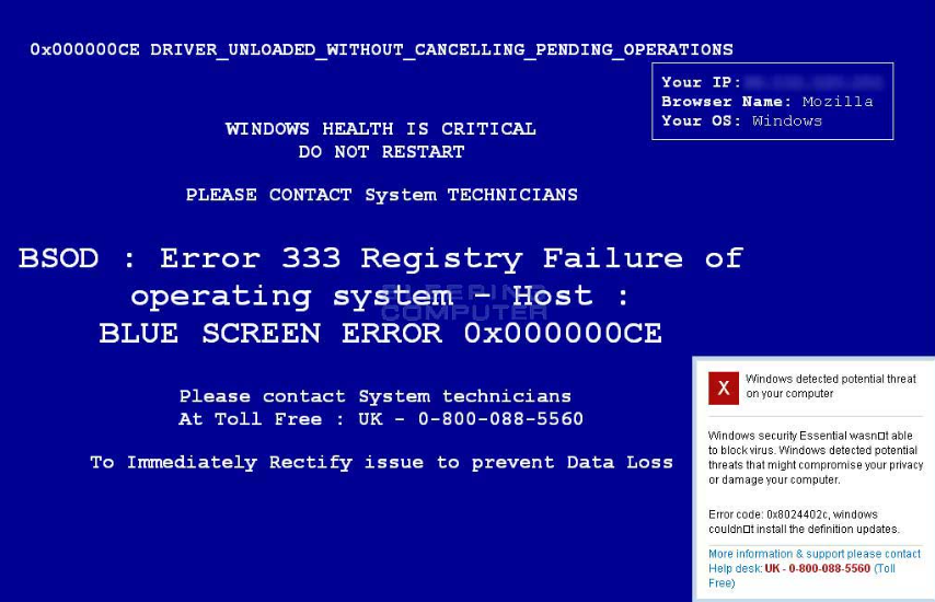 Windows Health Is Critical Virus