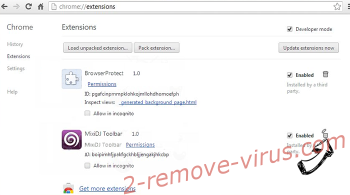 My99tab.com Virus Chrome extensions remove