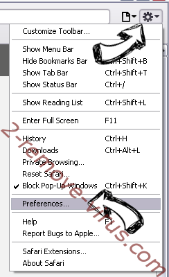 MetroWhiz Toolbar Safari menu