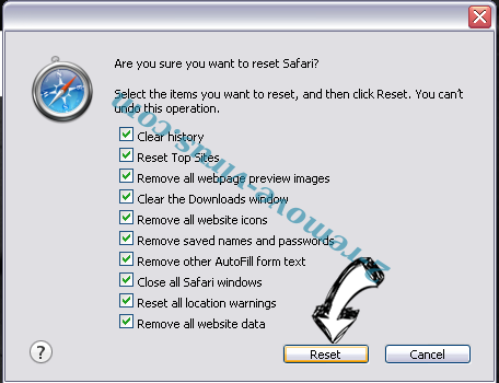 MetroWhiz Toolbar Safari reset