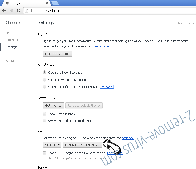 Hellosearch.fr Chrome extensions disable