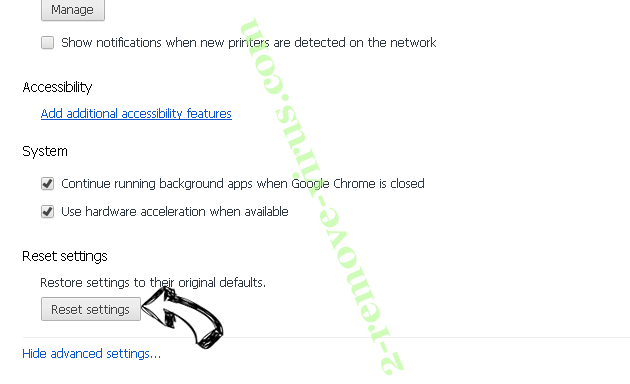 Firrectly.top Chrome advanced menu